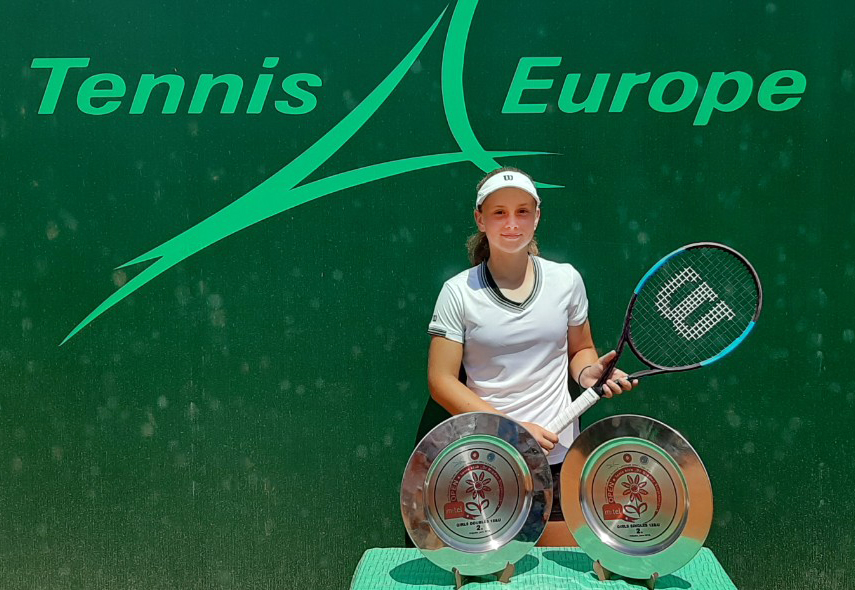 Eva - finalist of the Tennis Europe U12 in Prijedor, BiH